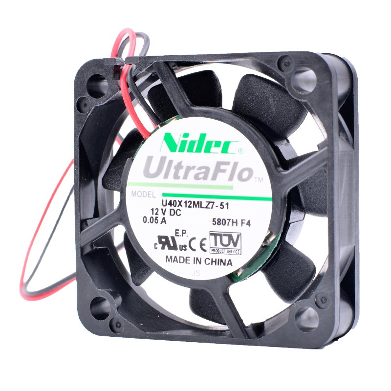 Nidec U40X12MLZ7-51 4cm 4010 40mm fan 12V 0.05A Ultra-quiet computer motherboard north and south bridge cooling fan