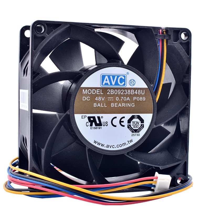 AVC 2B09238B48U DC 48V 0.70A 92x92x38mm High-end server inverter cooling fan
