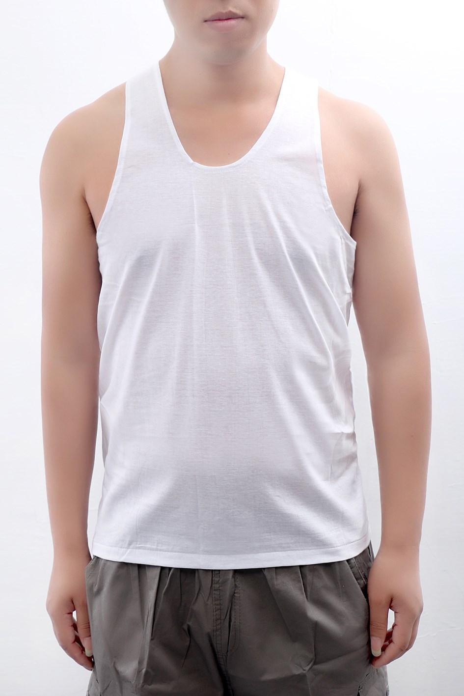 Chrysanthemum brand men's cotton vest middle-aged loose underwear old shirt summer dad cotton short-sleeved round neck T-shirt