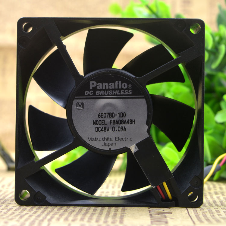 Panaflo FBA08A48H DC48V 0.09A DC BRUSHLESS 3-wire fan