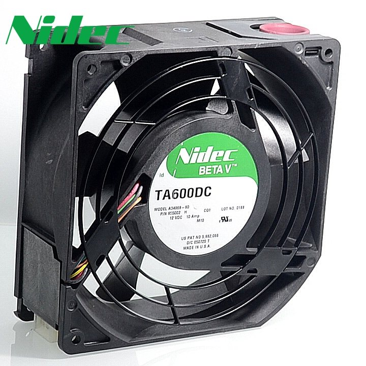 Nidec TA600DC A34969-90 15CM 12V 10A dual ball bearing cooling fan
