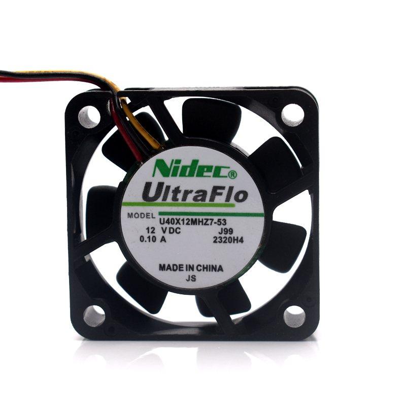 NIDEC U40X12MHZ7-53 4cm DC 12V 0.1A NBR bearing axial cooling fan