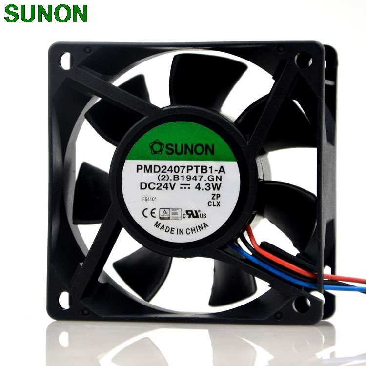 SUNON PMD2407PTB1-A 24V 4.3W 7CM 3wire inverter case fan