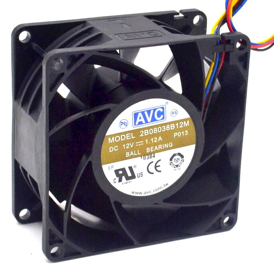 AVC  2B08038B12M  1.12A 12V PWM speed control violent fan