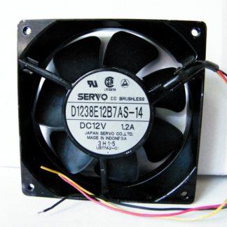 SERVO D1238E12B7AS-14 DC12V 1.2A three-wire metal frame fan