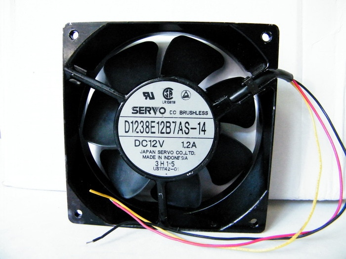 SERVO D1238E12B7AS-14 DC12V 1.2A three-wire metal frame fan