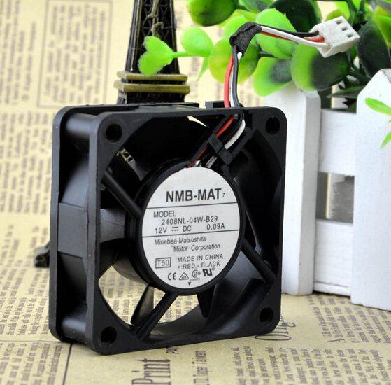 NMB-MAT 2408NL-04W-B29 12V 0.09A 60*60* 6CM 3 line fan