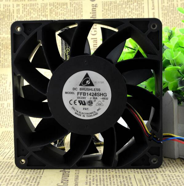 Delta FFB1424SHG DC24V 2.30A 140*140*50mm 4-wire cooling fan