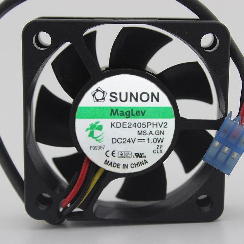 SUNON KDE2405PHV2 DC24V 1.0W 2-wire cooling fan