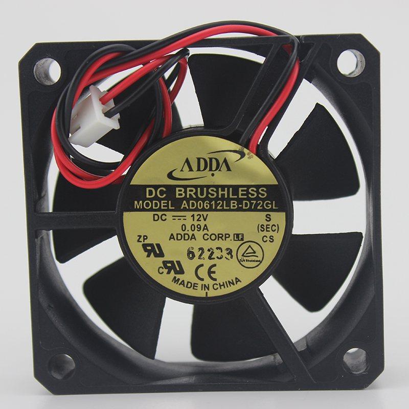 ADDA AD0612MB / LB /HB-D70 / D76GL 6015 12V power supply Silent cooling fan
