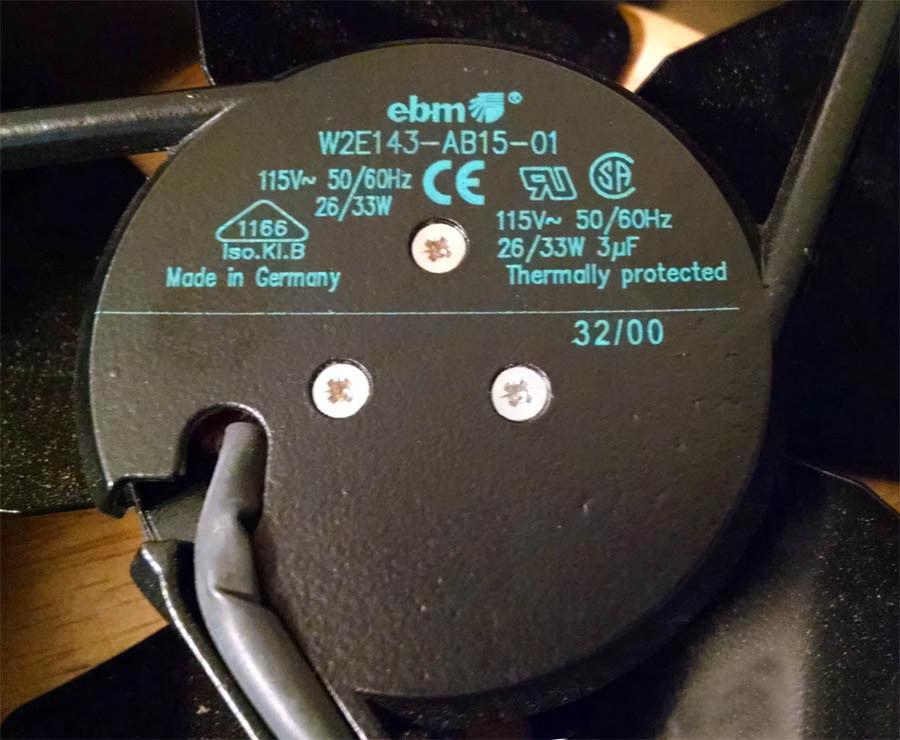 EBM W2E143-AB15-01 115VAC 50/60Hz 26/33W Axial Fan