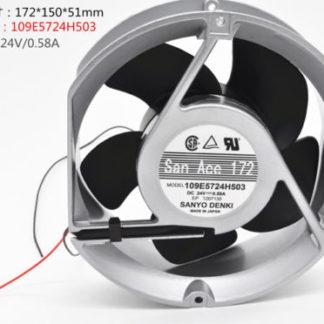 SANYO 109E5724H503 DC24V 0.58A 2pin Double ball fan