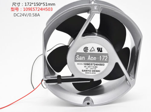 SANYO 109E5724H503 DC24V 0.58A 2pin Double ball fan