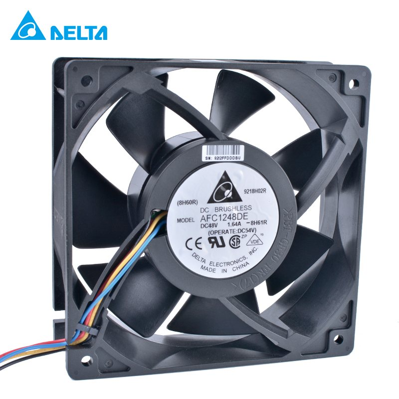 DELTA AFC1248DE 20x120x38mm 48V 1.64A 4wire double ball bearing cooling fan