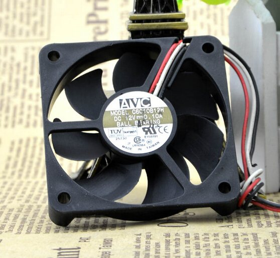 AVC C6010B12H 60*60*10 12V 0.10A 6CM CPU chassis power supply fan