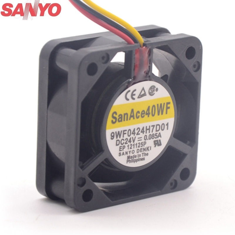 Sanyo 9WF0424H7D01 40mm 24V 0.085A waterproof server inverter cooling fan