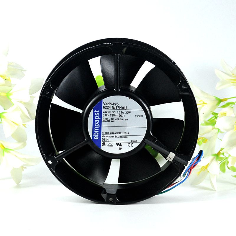 ebmpapst 6224N/17HAU  DC 24V 1.25A 172x172x51mm Server Round fan