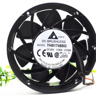 Delta THB1748BG DC48V 5.80A 607.0CFM round metal cooling fan