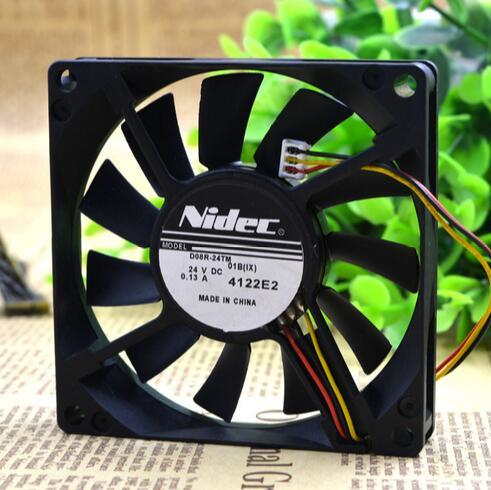 NIDEC D08R-24TM 01B (IX) 8CM 24V 0.13A  3Z08E2 3-Wire NBR Bearing Inverter Fan
