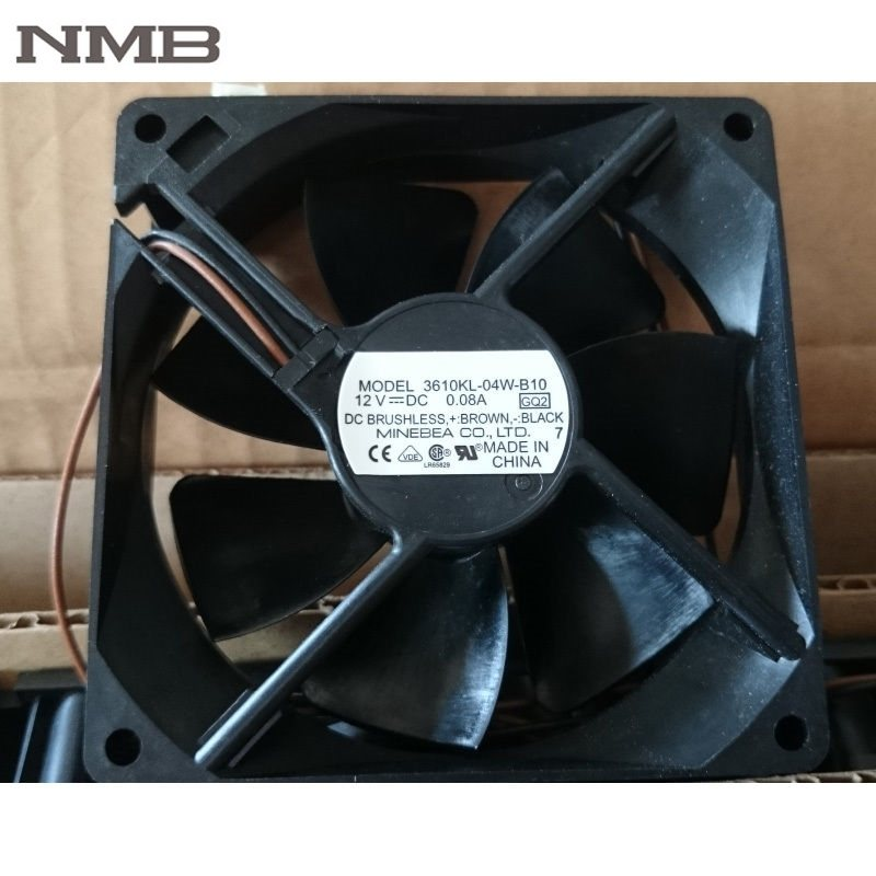 NMB 3610KL-04W-B10 12V DC 0.08A 2wire axial  Cooling Fan