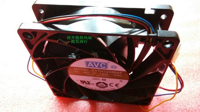 AVC DYTH1238B8F DC48V 1.80A Y082 120*120*38MM  4-wire server industrial cooling fan