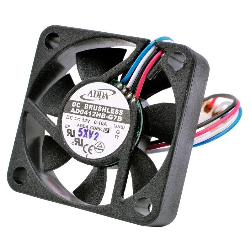 ADDA AD0412HB-G7B DC12V 0.10A 4-wire PWM mini cooling fan
