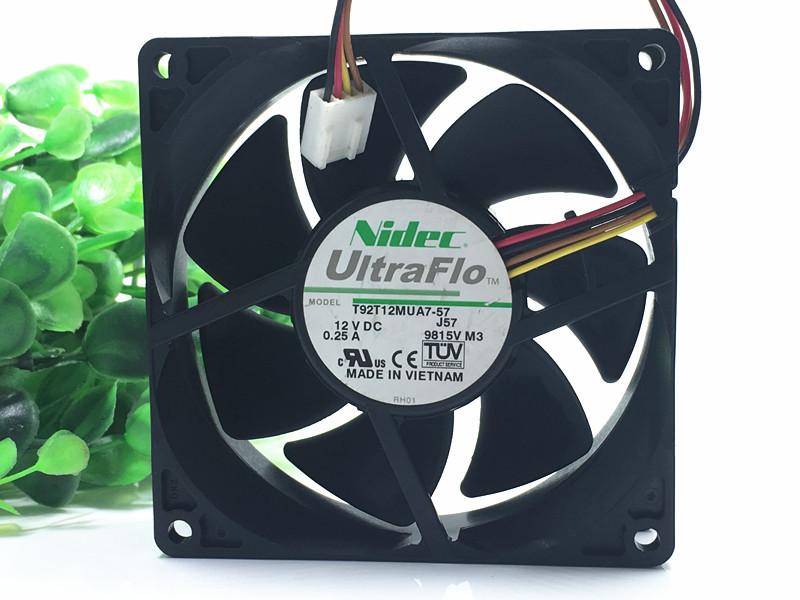 Nidec T92T12MUA7-57 12V 0.25A 4-wire temperature controlled mute fan