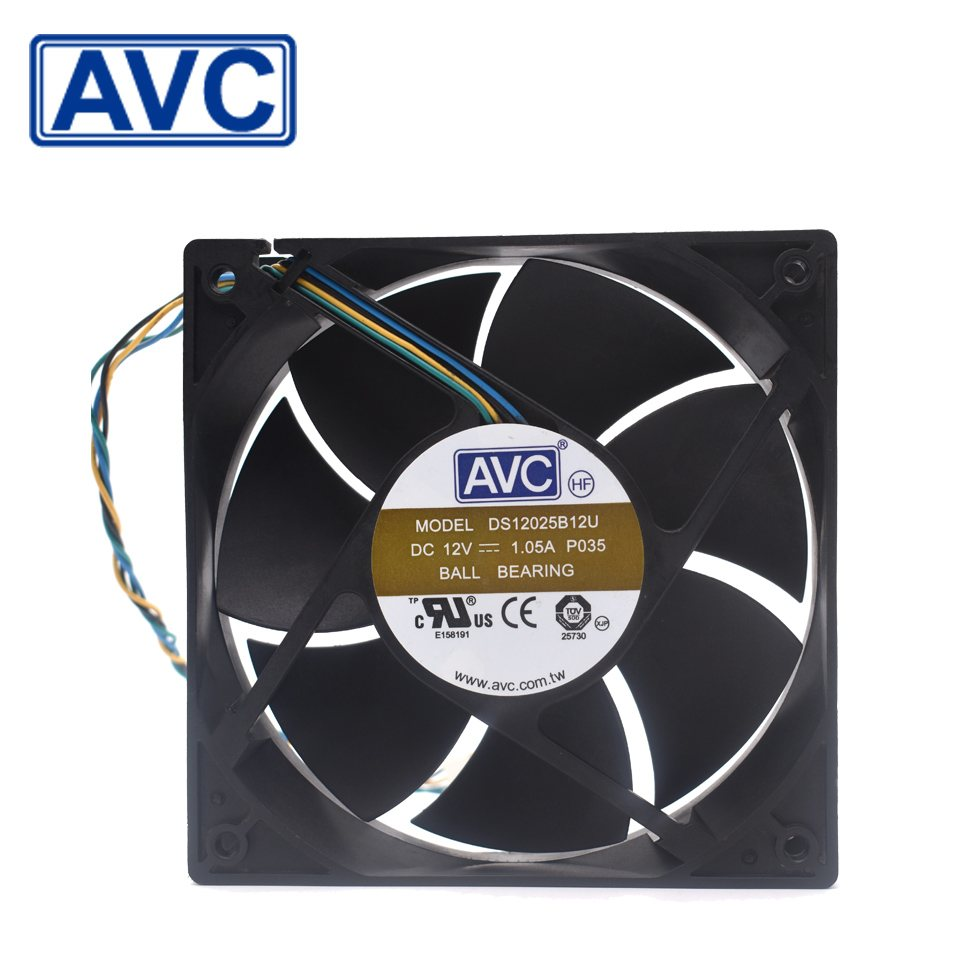 AVC  DS12025B12U 12V 1.05A  cooling fan