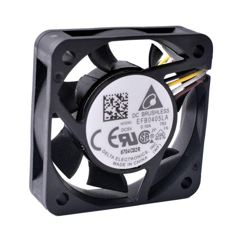 DELTA EFB0405LA 5V 0.10A 4CM silent ball fan