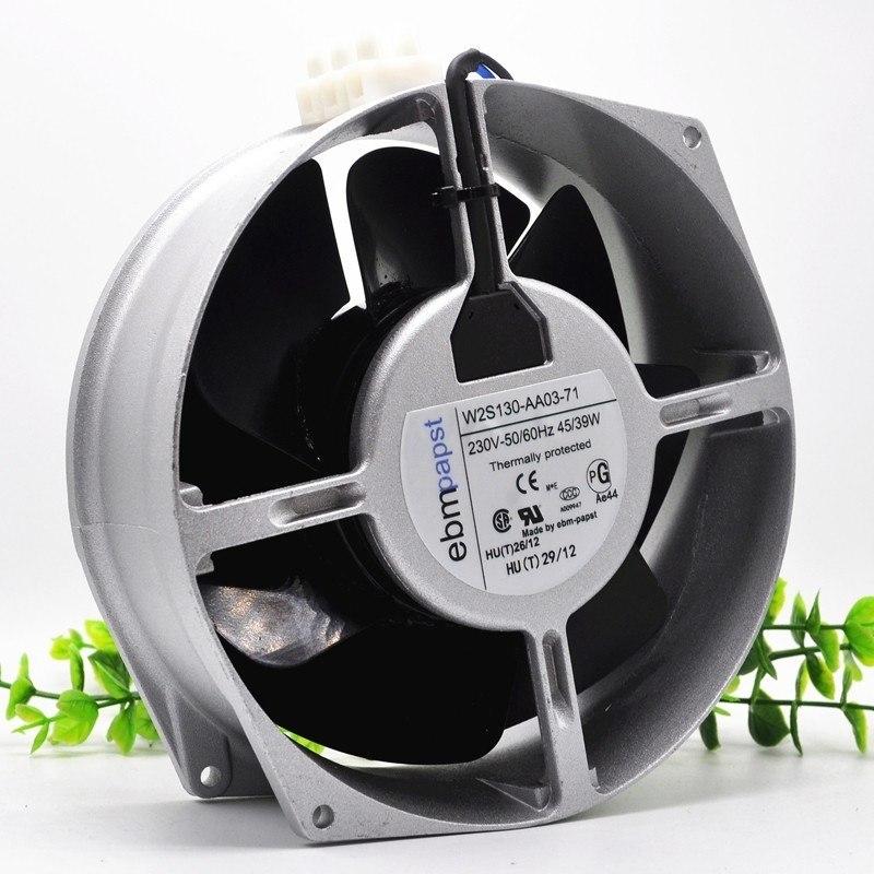 Ebm Papst W2S130-AA03-71 AC 230V 39~45W 172x150x55mm Server Round Cooling Fan