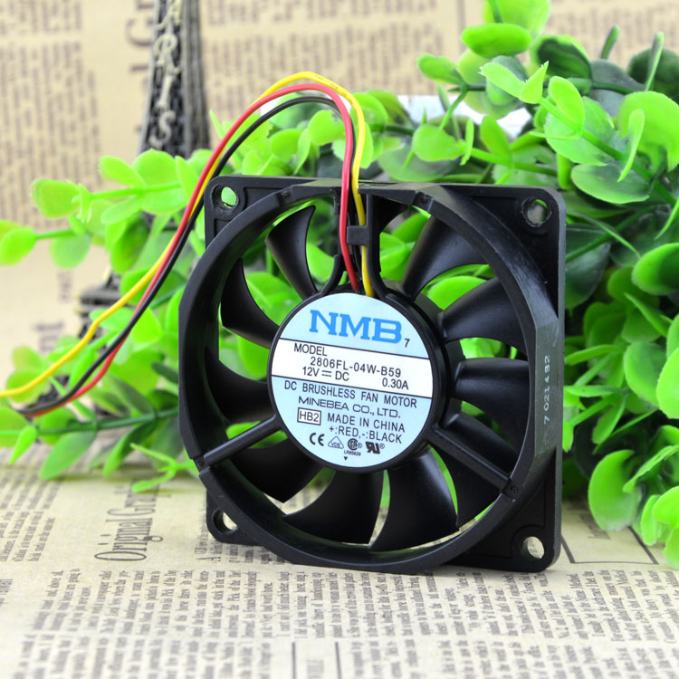 NMB 2806FL-04W-B59 12V 0.3A 3Wire Server Cooling Fan