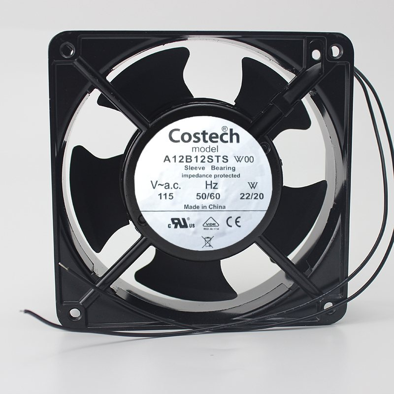 Costech A12B12STS W00 12CM 115V 22/20W Cooling Fan