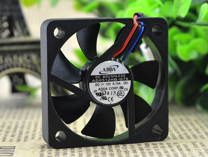 ADDA AD0512HB-G76 DC12V 3P 50*50*10M radiator equipment fan