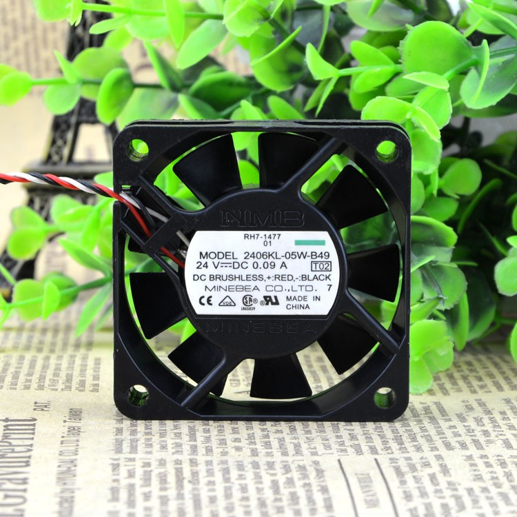 NMB 2406KL-05W-B49 6015 60mm DC 24V 0.09A 6CM cm alarm inverter fan