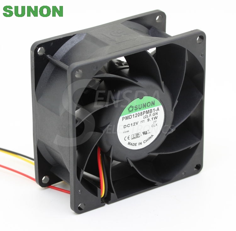 SUNON PMD1208PMB1-A DC12V 9.1W 4-wire inverter axial cooling fan