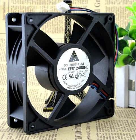 DELTA EFB1248SHE-F00 48V 0.30A 120*120*38 3P 12cm speed cooling fan