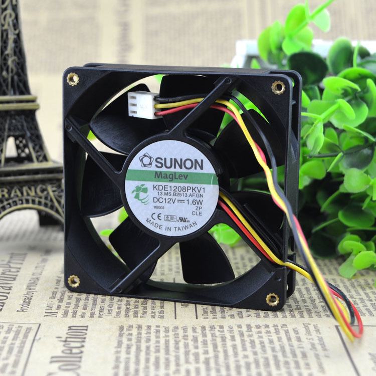 SUNON KDE1208PKV1 DC12V 1.6W 3-Wire cooling Fan