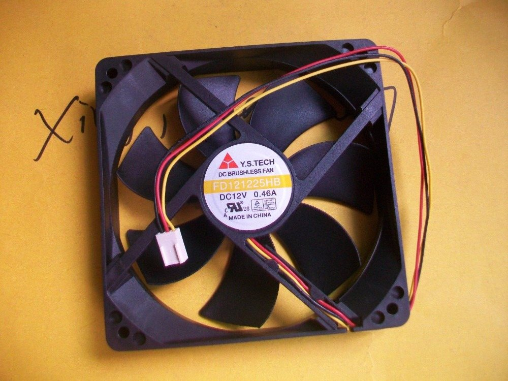 Y.S.TECH FD121225HB 12V 0.46A 12CM 125 3pin Chassis fan