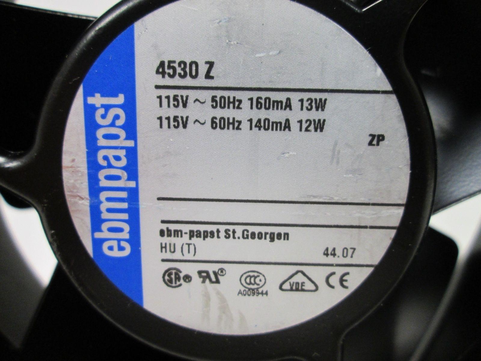 EbmPapst 4530Z 115VAC 50/60Hz 160/140mA AC Fan