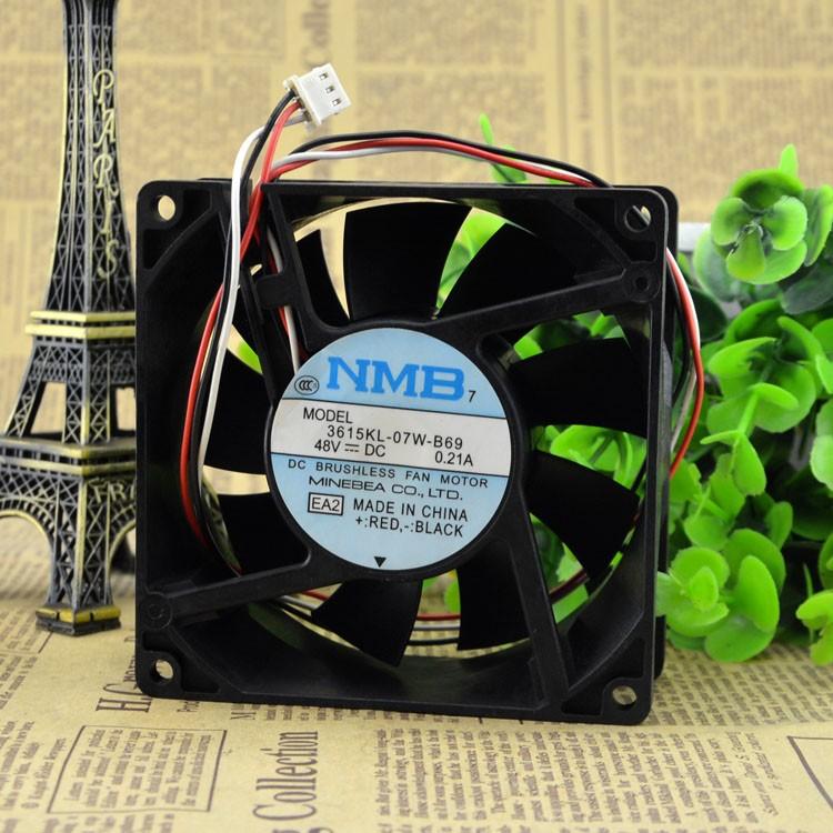 NMB 3615KL-07W-B69 48V 0.21A 9CM 3-wire cooling fan