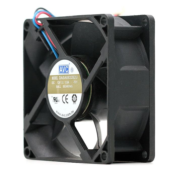 AVC DASA0832B2U 12V 1.0A dual ball super large cooling fan