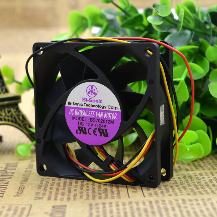 Bi-Sonic BS702012M  7CM silence 3 wire cooling fan