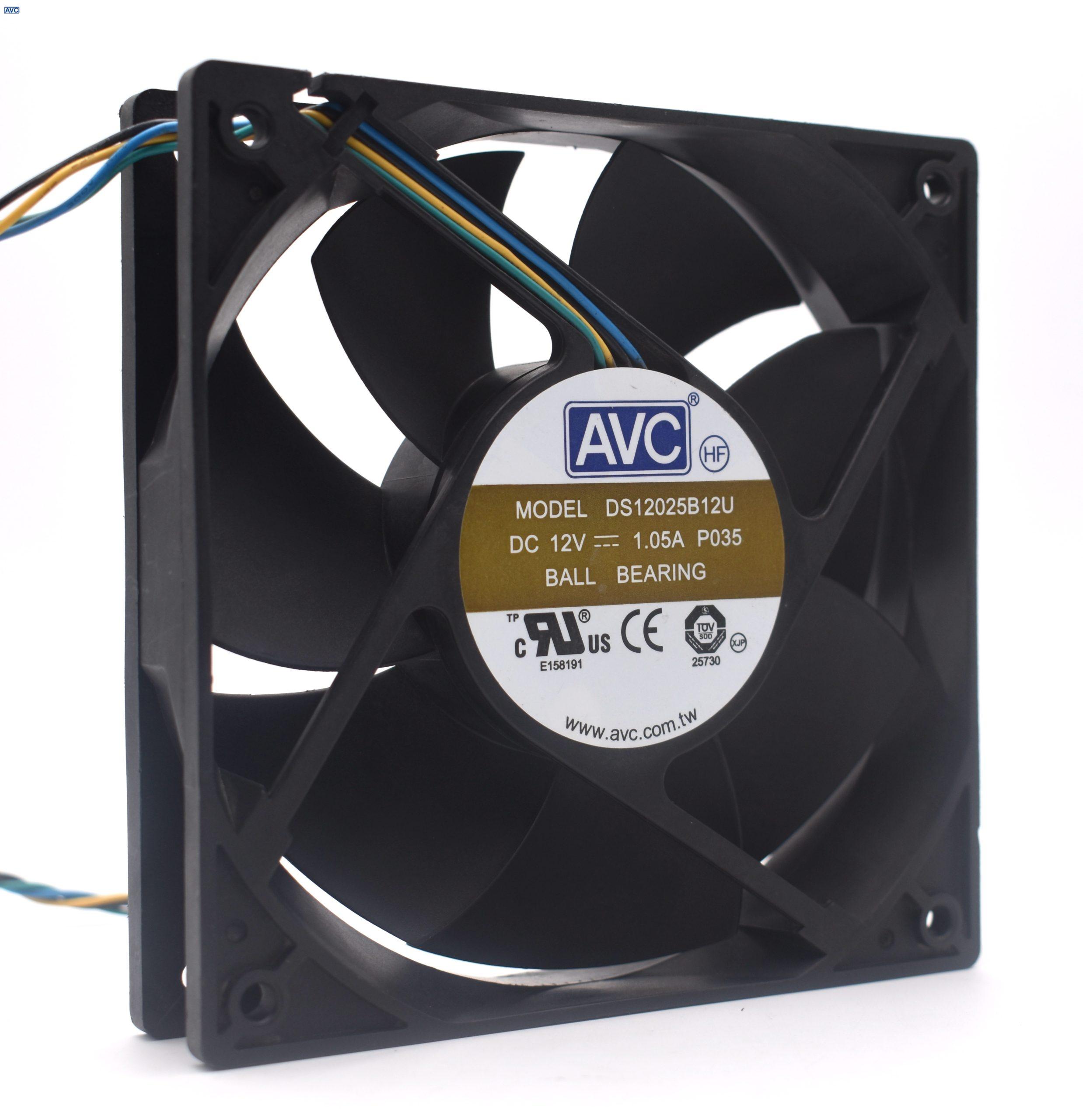 AVC  DS12025B12U 12V 1.05A  cooling fan