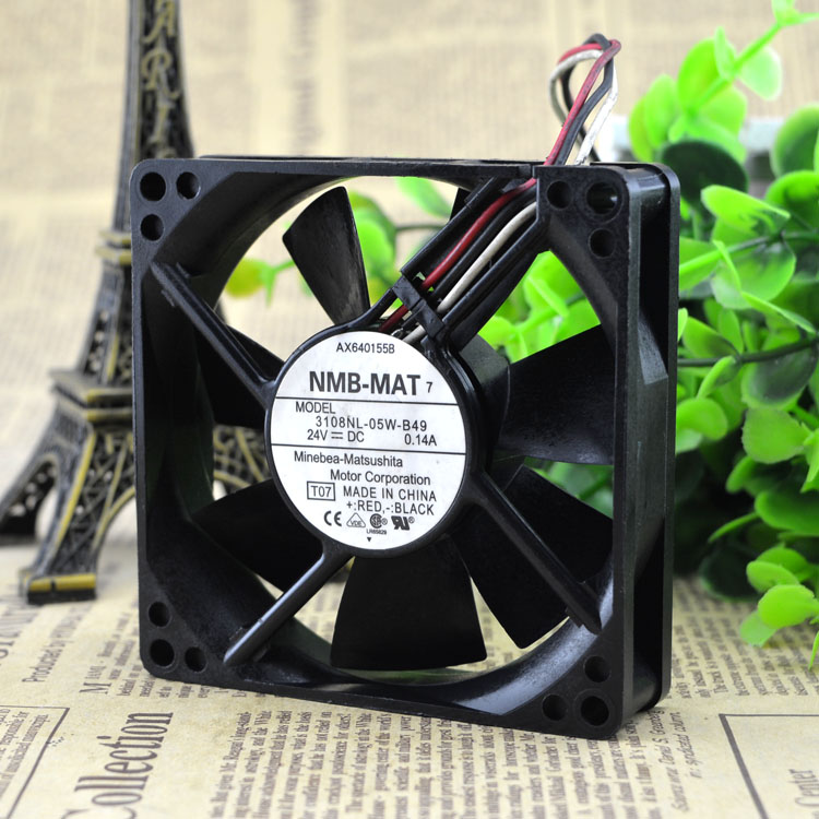 NMB 3108-05w–B49 DC24v 0.14 A 3line detection alarm inverter fan