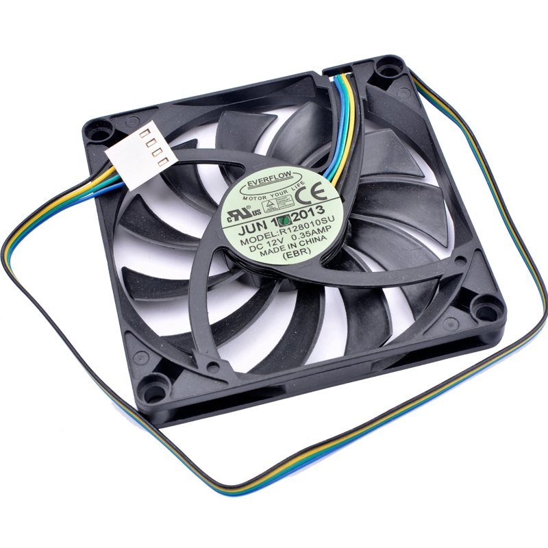 R128010SU DC12V 0.35A 4lines pwm computer ultra-thin cooling fan