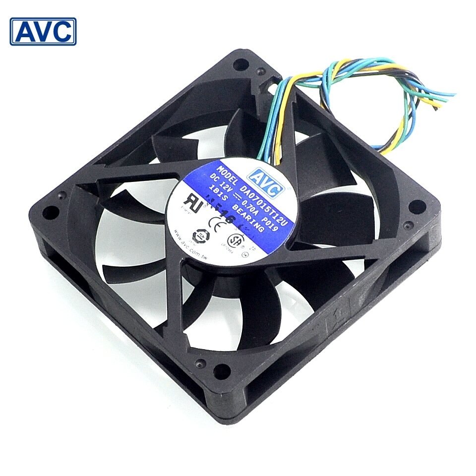 AVC  DA07015T12U 7CM 12V 0.7A 6000 turn four sewing Intelligent Speed  fan