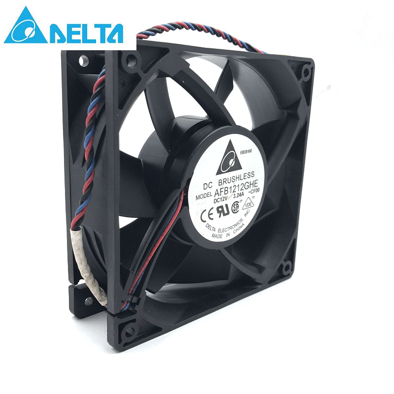 Delta AFB1212GHE 120x120x38mm DC 12V 3.24A 3-pin TAC connector axial powerful cooling fan