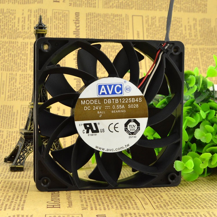 AVC DBTB1225B4S 12CM 24V 0.55A three-line high-volume fan