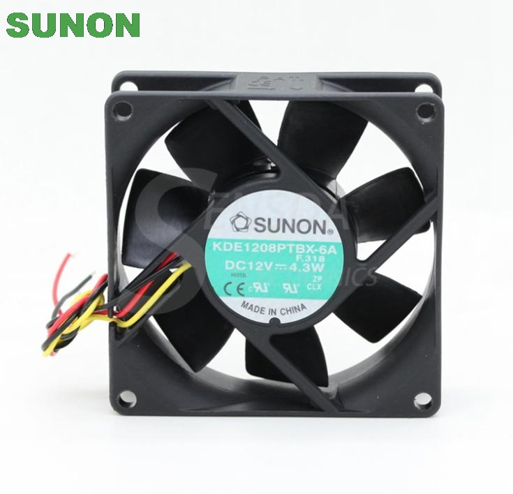 Sunon KDE1208PTBX-6A 80mm DC12V 4.3W server inverter axial cooling fan