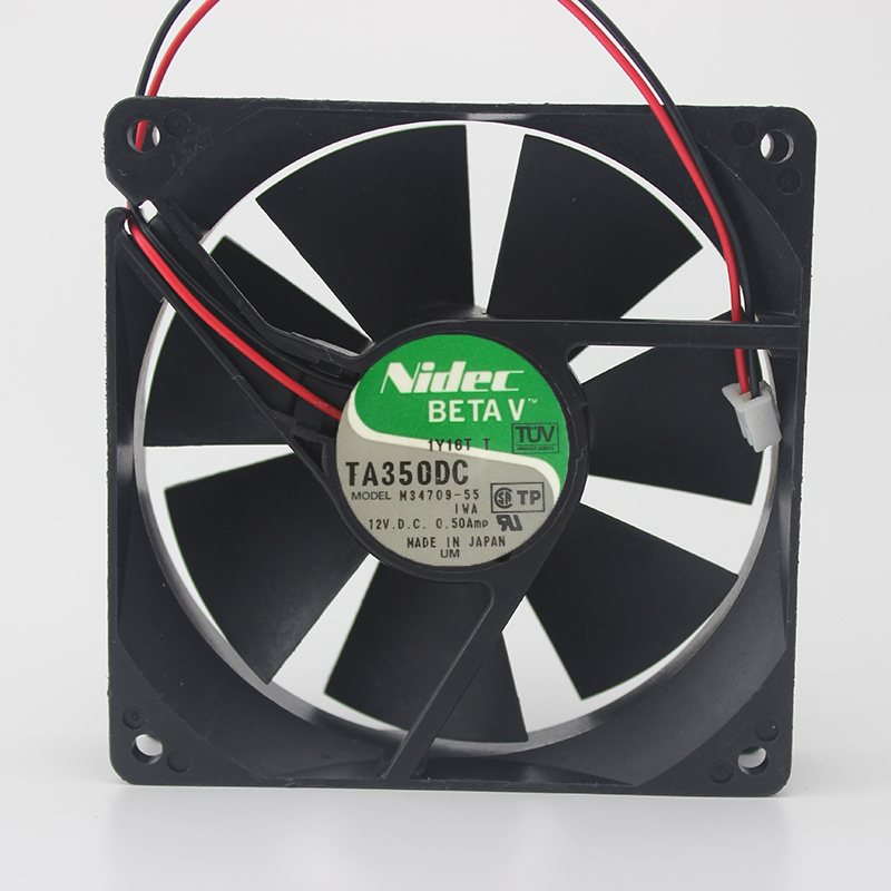 Nidec M34709-55 12V 0.50A double ball bearing  inverter cooling fan